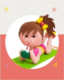 Imagem com curso de feltro boneca pool
